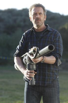 HOUSE: House (Hugh Laurie, R) takes on his nemesis in an annual spud gun competition in